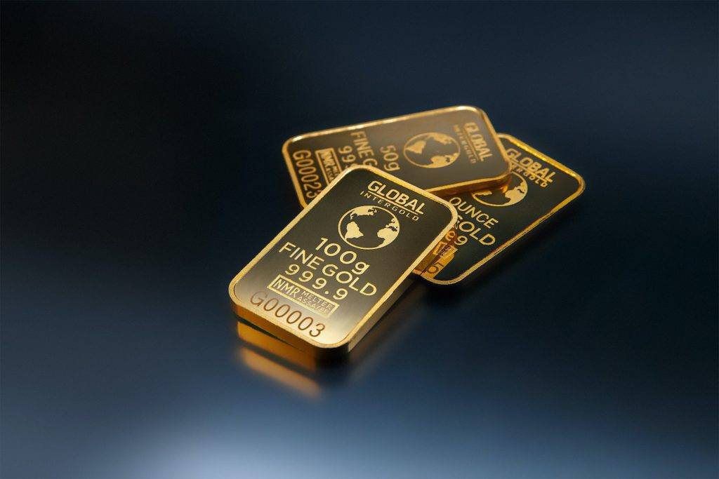 This picture show two gold bars.