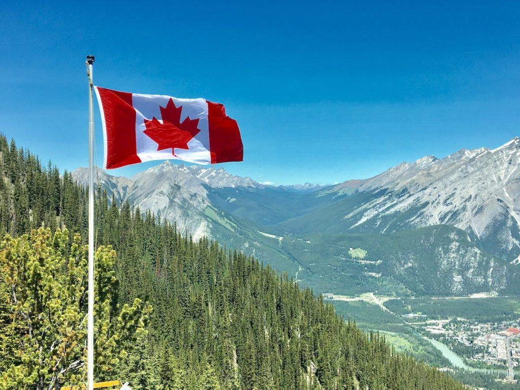 This picture show some Canadian flag.