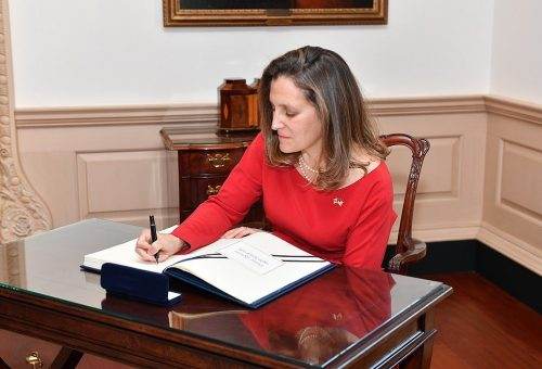 Chrystia Freeland has signed more guest books than budgets