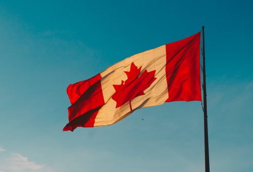 This picture show the Canadian flag.