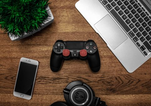 This picture show a gaming console controller.